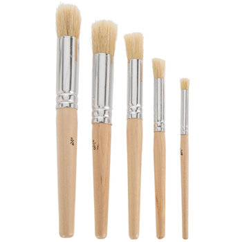 Stencil Paint Brushes - 5 Piece Set