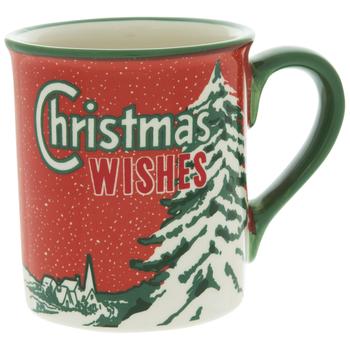 Christmas Wishes Retro Mug