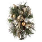 Champagne Pine & Ornament Topper