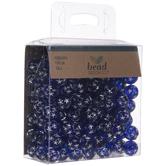 Blue Star Round Beads
