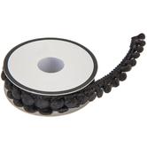 """Black Mini Pom Pom Trim - 1/2"""""""