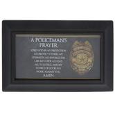 Policeman's Prayer Framed Decor