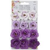 Purple Rose Flower Embellishments