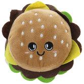 Cheeseburger Plush Squeaky Dog Toy