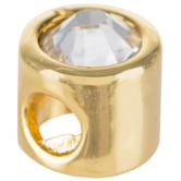14K Gold Plated Rhinestone Charm