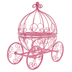 Pink Princess Carriage Metal Decor