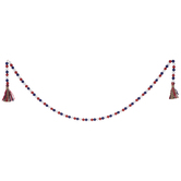 Red, White & Blue Wood Beaded Garland