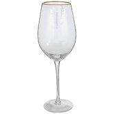 Iridescent Hammered Stemmed Glass