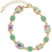 Green & Iridescent Rhinestone Bracelet