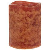 Purely Pumpkin LED Pillar Candle