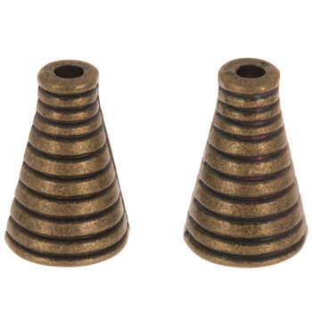 Striped Bead Cones - 10mm x 16mm