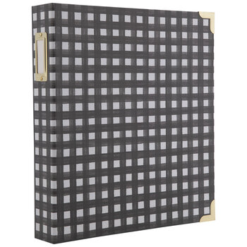 "Black & White Buffalo Check 3-Ring Scrapbook Album - 8 1/2"" x 11"""