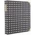 Black & White Buffalo Check 3-Ring Scrapbook Album - 8 1/2