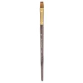 Golden Taklon Flat Shader Paint Brush - Size 12