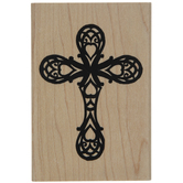 Ornate Cross Rubber Stamp