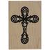 Ornate Cross Rubber Stamp