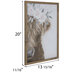 Floral Crown Highland Cow Wood Wall Decor