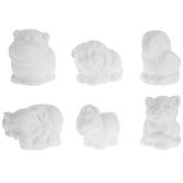 Zoo Plaster Figurines