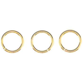 18K Gold Plated Heavy Gauge Jump Rings