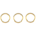 18K Gold Plated Heavy Gauge Jump Rings - 12mm