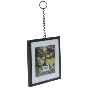 Black Metal Wall Frame With Chain