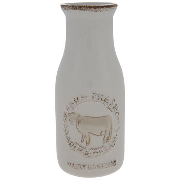 Farm Fresh Milk Bottle Vase