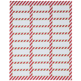 Red & White Striped Address Labels