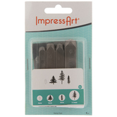 Pine Tree Metal Stamps - 4mm - 9.5mm