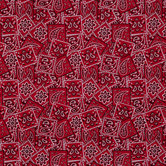 Red Classic Bandana Cotton Calico Fabric