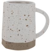 White & Brown Splatter Mug Vase