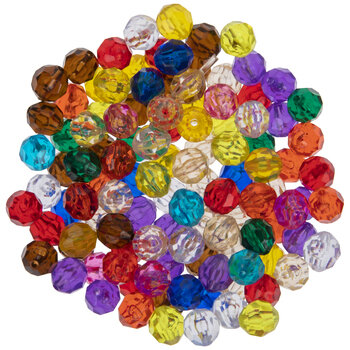 Rainbow Faceted Beads - 12mm