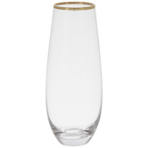 Stemless Glass With Gold Rim