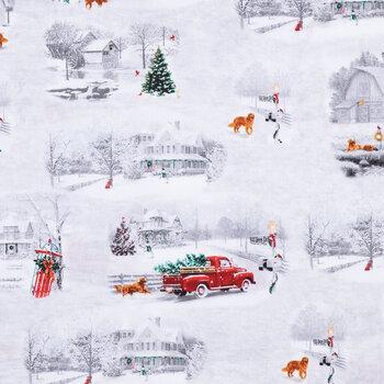 Snowy Christmas Cotton Fabric