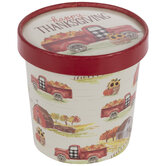 Happy Thanksgiving Truck Snack Cups With Lids