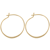 10K Gold Plated Hoop Ear Wires - 21mm
