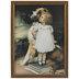 Girl & Dog Vintage Framed Wall Decor