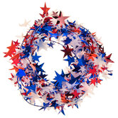 Red, White & Blue Star Wire Garland