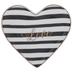 Love Striped Heart Jewelry Dish