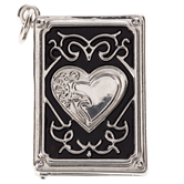 Heart Book Locket Charm