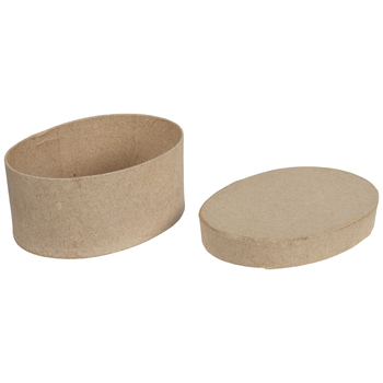 Oval Paper Mache Boxes - Small