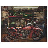 Indian Motorcycle Canvas Wall Decor