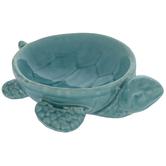 Aqua Turtle Dish