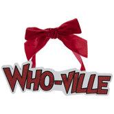 Who-Ville Glitter Word Ornament
