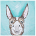 Teal & Brown Donkey Canvas Wall Decor