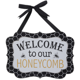 Welcome To Our Honeycomb Wood Wall Decor