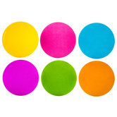 Neon Dot Paper Cutouts