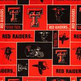 Texas Tech Block Collegiate Fleece Fabric