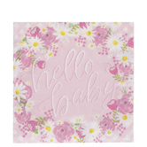 Hello Baby Napkins - Large