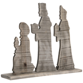 Three Wise Men Nativity Wood Decor