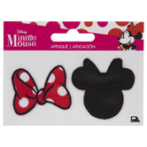 Minnie Mouse & Bow Iron-On Appliques